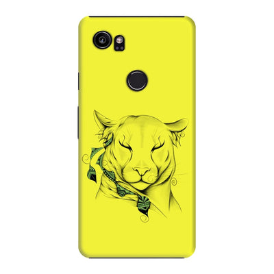 Poetic Cougar Slim Case And Cover For Pixel 2 Xl - Neon Yellow