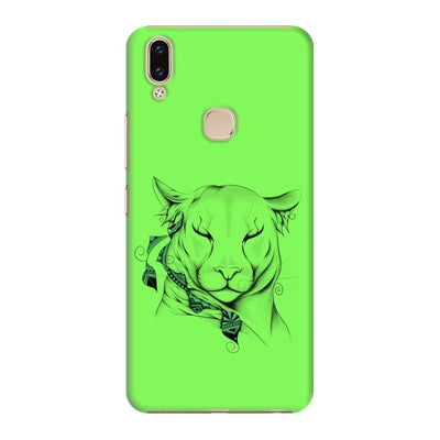 Poetic Cougar Slim Case And Cover For Vivo V9 - Neon Green