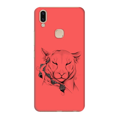 Poetic Cougar Slim Case And Cover For Vivo V9 - Neon Red