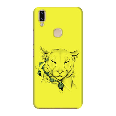 Poetic Cougar Slim Case And Cover For Vivo V9 - Neon Yellow
