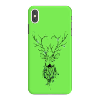 Poetic Deer Slim Case And Cover For Iphone Xs Max - Neon Green