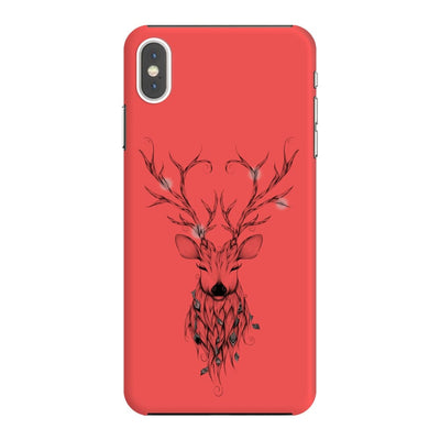 Poetic Deer Slim Case And Cover For Iphone Xs Max - Neon Red