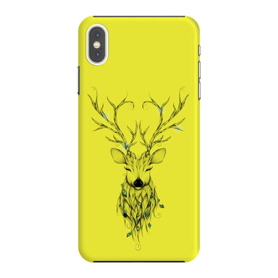 Poetic Deer Slim Case And Cover For Iphone Xs Max - Neon Yellow