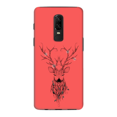 Poetic Deer Slim Case And Cover For Oneplus 6 - Neon Red