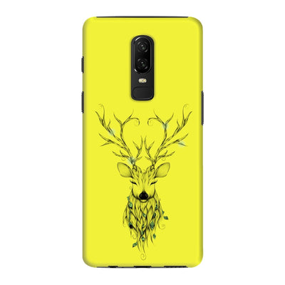Poetic Deer Slim Case And Cover For Oneplus 6 - Neon Yellow