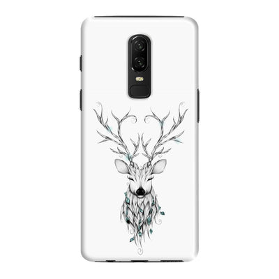 Poetic Deer Slim Case And Cover For Oneplus 6 - White
