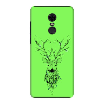 Poetic Deer Slim Case And Cover For Redmi Note 5 - Neon Green