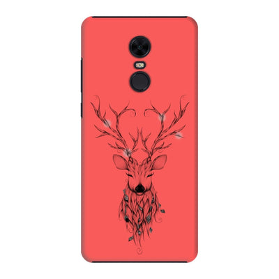 Poetic Deer Slim Case And Cover For Redmi Note 5 - Neon Red