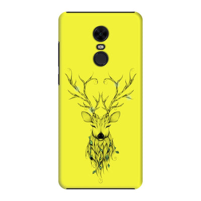 Poetic Deer Slim Case And Cover For Redmi Note 5 - Neon Yellow