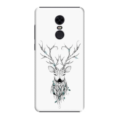 Poetic Deer Slim Case And Cover For Redmi Note 5 - White