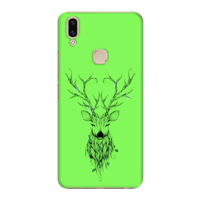 Poetic Deer Slim Case And Cover For Vivo V9 - Neon Green