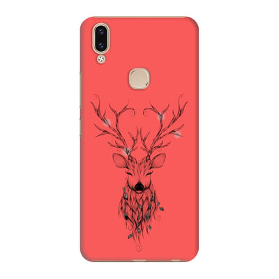 Poetic Deer Slim Case And Cover For Vivo V9 - Neon Red