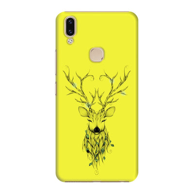 Poetic Deer Slim Case And Cover For Vivo V9 - Neon Yellow