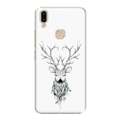Poetic Deer Slim Case And Cover For Vivo V9 - White