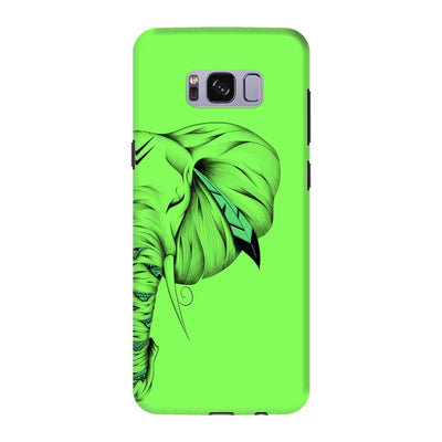 Poetic Elephant Slim Case And Cover For Galaxy S8 - Neon Green