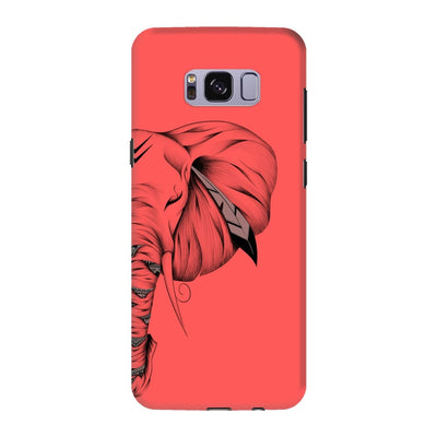 Poetic Elephant Slim Case And Cover For Galaxy S8 - Neon Red