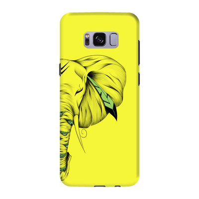Poetic Elephant Slim Case And Cover For Galaxy S8 - Neon Yellow
