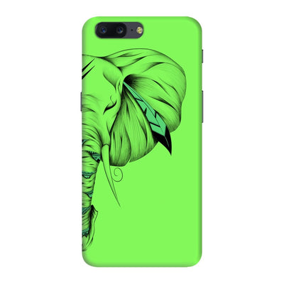 Poetic Elephant Slim Case And Cover For Oneplus Five - Neon Green