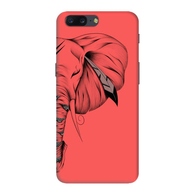 Poetic Elephant Slim Case And Cover For Oneplus Five - Neon Red