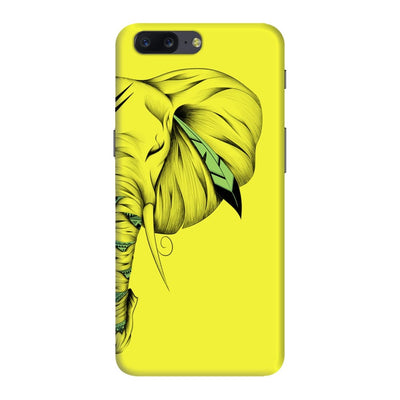 Poetic Elephant Slim Case And Cover For Oneplus Five - Neon Yellow