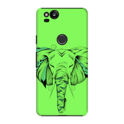 Poetic Elephant Slim Case And Cover For Pixel 2 - Neon Green