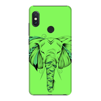 Poetic Elephant Slim Case And Cover For Redmi Note 5 Pro - Neon Green