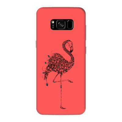 Poetic Flamingo Slim Case And Cover For Galaxy S8 Plus - Neon Red