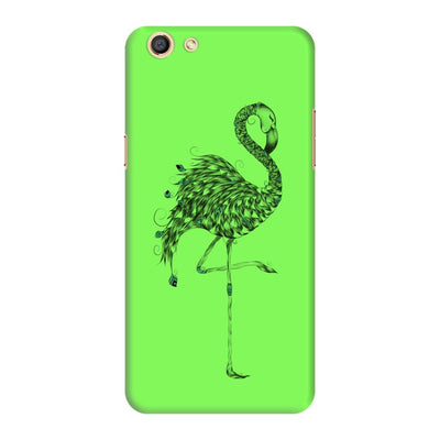 Poetic Flamingo Slim Case And Cover For Oppo F3 - Neon Green