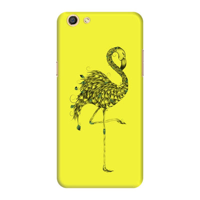 Poetic Flamingo Slim Case And Cover For Oppo F3 - Neon Yellow