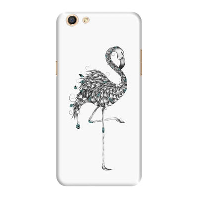 Poetic Flamingo Slim Case And Cover For Oppo F3 - White