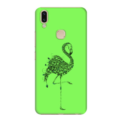 Poetic Flamingo Slim Case And Cover For Vivo V9 - Neon Green