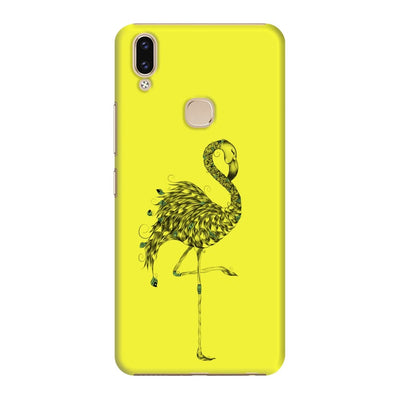 Poetic Flamingo Slim Case And Cover For Vivo V9 - Neon Yellow