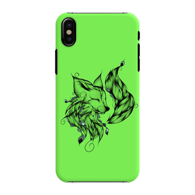 Poetic Fox Slim Case And Cover For Iphone X - Neon Green