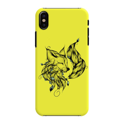 Poetic Fox Slim Case And Cover For Iphone X - Neon Yellow