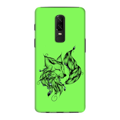 Poetic Fox Slim Case And Cover For Oneplus 6 - Neon Green