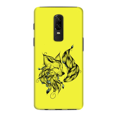 Poetic Fox Slim Case And Cover For Oneplus 6 - Neon Yellow