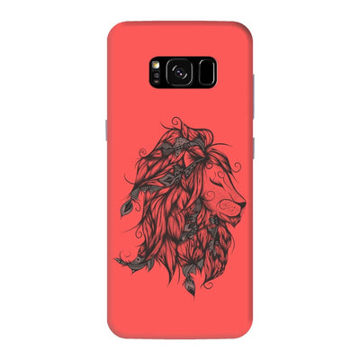 Poetic Lion Slim Case And Cover For Galaxy S8 Plus - Neon Red