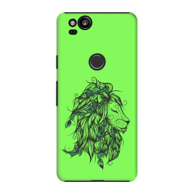 Poetic Lion Slim Case And Cover For Pixel 2 - Neon Green