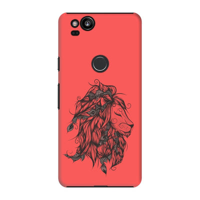 Poetic Lion Slim Case And Cover For Pixel 2 - Neon Red
