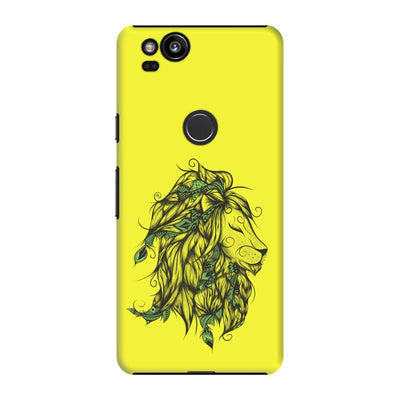 Poetic Lion Slim Case And Cover For Pixel 2 - Neon Yellow