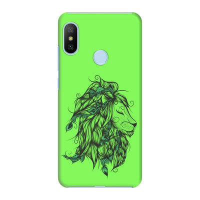 Poetic Lion Slim Case And Cover For Redmi 6 Pro - Neon Green