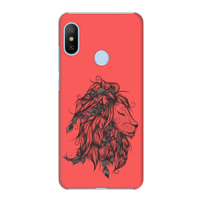 Poetic Lion Slim Case And Cover For Redmi 6 Pro - Neon Red