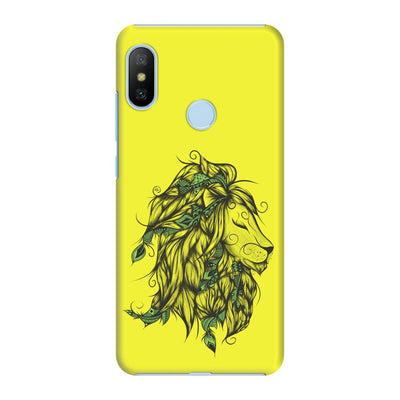 Poetic Lion Slim Case And Cover For Redmi 6 Pro - Neon Yellow