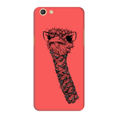 Poetic Ostrich Slim Case And Cover For Oppo F3 - Neon Red