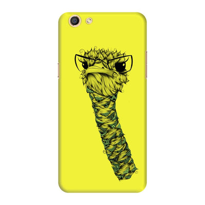 Poetic Ostrich Slim Case And Cover For Oppo F3 - Neon Yellow