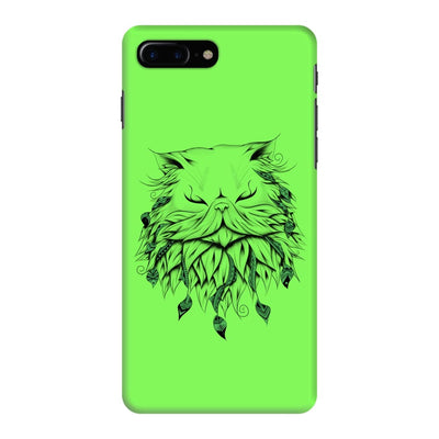 Poetic Persian Cat Slim Case And Cover For Iphone 7 Plus - Neon Green
