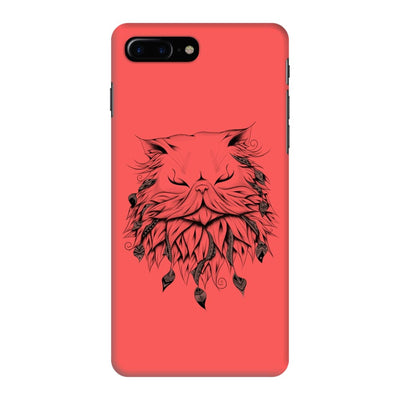 Poetic Persian Cat Slim Case And Cover For Iphone 7 Plus - Neon Red