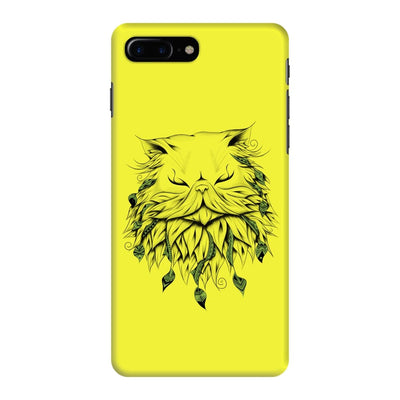 Poetic Persian Cat Slim Case And Cover For Iphone 7 Plus - Neon Yellow