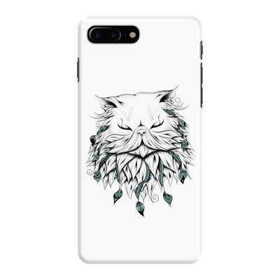 Poetic Persian Cat Slim Case And Cover For Iphone 7 Plus - White
