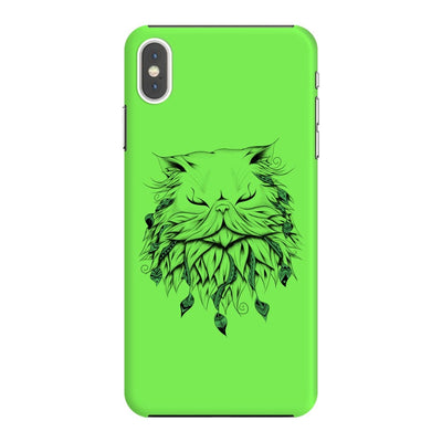 Poetic Persian Cat Slim Case And Cover For Iphone Xs Max - Neon Green
